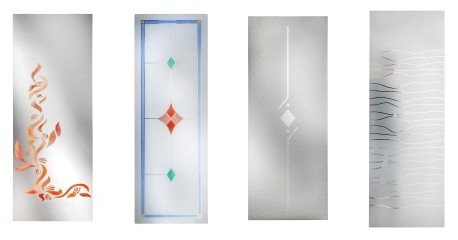 Vetri satinati decorati per porte interne for Decorazioni su porte interne